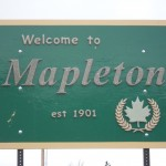 Mapleton UT Welcome Sign