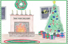 Abby Garrett places second in Nebo Christmas card contest; Emma Mousser, honorable mention