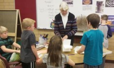 Hobble Creek Elementary earth art