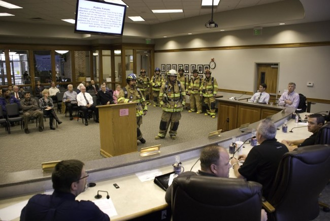 Mapleton firefighters thank City Council