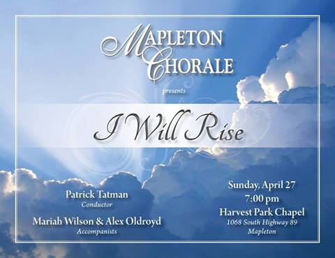 Mapleton Chorale to present concert on April 27