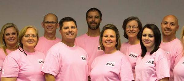 Mapleton EMS Department is wearing pink
