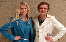 Haley Andrew and Amelia Wright placed 2nd and 1st in the recent Make-it-with-Wool competition.