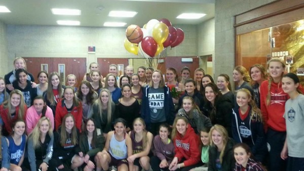 Local girls' basketball: Rivals on the court, friends off the court