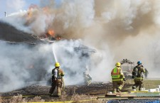Fire engulfs home in northwest Mapleton