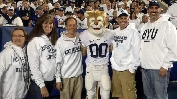 Dave Jex honored at BYU football game