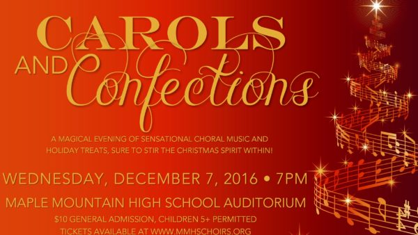 Carols and Confections is Weds, Dec 7